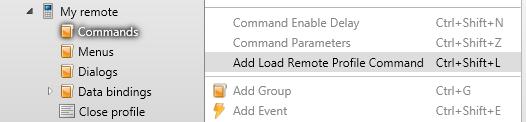 Add Load Remote Profile Command