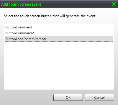 Select Touch Screen Event