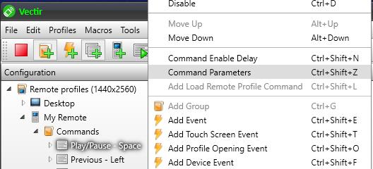 Add lock screen widget command